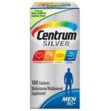 Centrum Silver #1 MEN 50+ MULTIVITAMIN / MULTIMINERAL SUPPLEMENT 100 Tablets