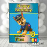 Personalised Paw Patrol Chase Kids Birthday Card Your Name Any Relation Age