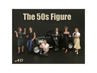 50's Style 6 piece Figurine Set for 1/18 Scale Models by American Diorama