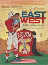 RARE 1960 ISLAM TEMPLE EAST-WEST FOOTBALL GAME PROGRAM, KEZAR STAD. DON MEREDITH