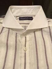 Ralph Lauren Purple Label KEATON Custom Fit Shirt 15 1/2 Frech Cuff Made n Italy