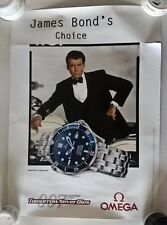 JAMES BOND - TOMORROW NEVER DIES -ORIGINAL OMEGA  WATCH ADVERTISEMENT POSTER