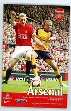 Arsenal v Stoke City - Programme - Premier League - 24th May 2009