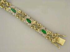 JDL GREEN AGATE & DIAMOND BRACELET