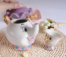 New Cartoon Beauty And The Beast Teapot Mug Mrs Potts Chip Tea Pot Cup One Set L