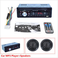 1 Din Car Stereo Audio MP3 Player FM Radio Receiver + Coaxial Component Speakers
