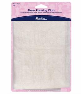 Hemline Silk Organza Sheer Pressing Cloth 55cm x 76cm Protects Fabric + FREE P&P