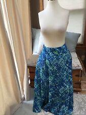 Jones New York Royal Aqua Blue Tie Dye Tiered Maxi Skirt 12 Excellent