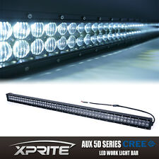 "Xprite 54"" 5D Fisheye Lens 312W CREE LED Cube Offroad Light Bar Spot Flood Combo"