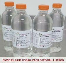 ALCOHOL 96º DENAT - MONOALCOHOL 90/10. MAYOR PODER ANTISÉPTICO ¡ PACK 4 LITROS !