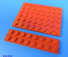LEGO NR- 303421/2x8 plaque rouge / 4 pièces