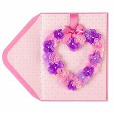 Gorgeous Papyrus  Valentine's Day Card - Hangable Floral Heart Wreath - $12.95