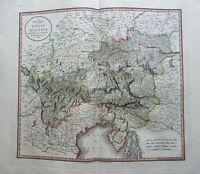 Holy Roman Empire Hapsburg Austria Carinthia Tyrol Istria 1801 Cary folio map