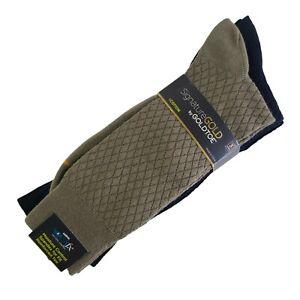 Signature Gold Toe Mens Dress Socks 3 Pair Shoe Sz 6-12.5 Large Moisture Control