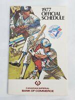 1977 TORONTO BLUE JAYS OFFICIAL SCHEDULE MLB BASEBALL CIBC POCKET CALENDAR RETRO