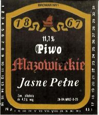 POLAND Browar Nr 1,Lodz Mazowieskie Sailboat beer label C1636