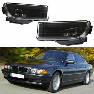 Pair Fog Light Lamp Clear Lenses For BMW 7 Series E38 740i 750iL 1995-2001
