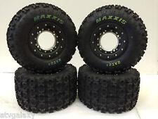 Hiper Tech 3 Beadlock Wheels Maxxis Razr 2 Tires Front/Rear Kit Raptor 700/660