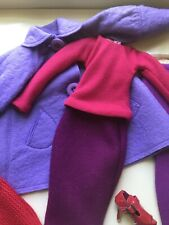 Tonner Ellowyne 'Felt Cold' outfit only lovely purple red cool shoes NRFB New