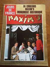 JOUR DE FRANCE N° 1291 MAXIM'S 1979