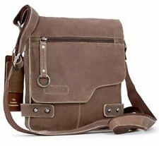 Ashwood 8351 TAN - Small Antique Tan Vintage Leather Camden Messenger Flight Bag