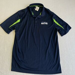 Seattle Seahawks Blue Mens XL Polo Golf Shirt NFL Team Embroidered New
