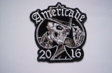 De usa bike week patch americade 2016 skull with a cc 8x8 CM