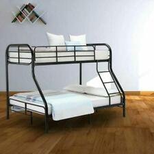 New Twin over Full Bunk Beds Bed Frames Bedroom with Ladder Furniture Black