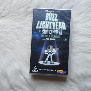 BUZZ LIGHT YEAR OF STAR COMMAND Toy Story TIM ALLEN VHS Video Tape DISNEY Rare