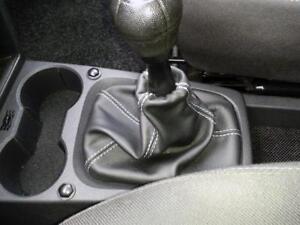 Cuffia leva cambio Opel Meriva A vera pelle nera