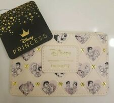 Disney Princess Couples Hearts Faux Leather Cardholder Loungefly Disney New