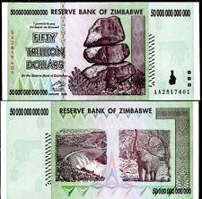 Zimbabwe 50 Trillion Dollars 2008 AA P 90 UNC