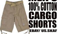 JMC Men's NWT Cargo Shorts in Khaki Free Shipping