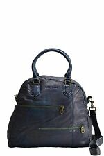 Liebeskind Berlin Bag HOPE Double Dyed Leather Satchel Crossbody Sky Color