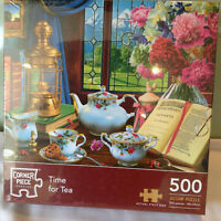 NEW SEALED  CORNER PIECE TIME FOR TEA 500 PIECE JIGSAW PUZZLE