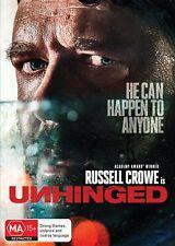 Unhinged DVD Region 4 Russell Crowe