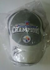 "LYNN SWANN ""VICTORY"" AUTOGRAPHED SUPERBOWL XL LOCKER ROOM CAP - STEELERS"