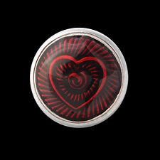 ANDANTE Druckknopf Click Button CHUNK Herz Liebe Love Rubin Rot #4259 + GESCHENK