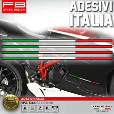 Adesivi Stickers ITALY ITALIA FLAG BANDIERA Compatibile DUCATI APRILIA Motorbike