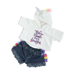 Adorable Unicorn Hoodie/Shorts Fit Most 16 inch Build A Bear and Make Your Own S