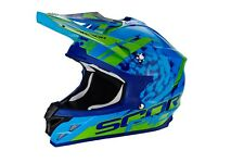 Casco da Cross Scorpion Vx-15 Air Kitsune colore Blu/verde gr M (57)