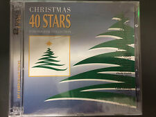 40 Christmas Stars, CD, 2 Discs, New, Roy Clark, Kim Carnes, Tom T. Hall, More