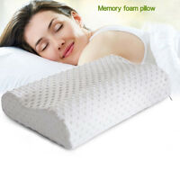 Cervical Contour Memory Foam Bed Pillow Ergonomic Orthopedic Design HU