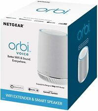NETGEAR Orbi Voice AC2200 Tri-Band Wi-Fi Range Extender w/ Smart Speaker RBS40V
