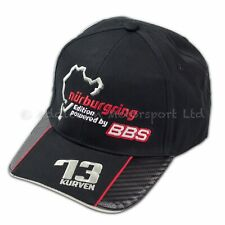 Genuine BBS Nurburgring Cap, Black with Red Piping
