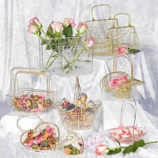 6x Large Metal Wire Mesh Bridesmaid Wedding Table Fancy Decor Baskets Sets