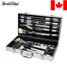 14 Pieces BBQ Barbecue Tool Set Grill Grilling Tools Accessory Stainless Steel