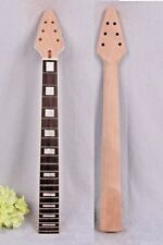 Yinfente electric guitar Neck Replacement 22 fret 24.75 Inch Flying V Head