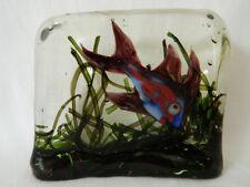 1950 S Murano Cenedese Fish Aquarium Block/presse-papier art glass Alfredo Barbini?