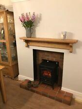 OVER RANGE SHELF FIREPLACE KITCHEN AGA OVER COOKER, prime oak shelf with corbels